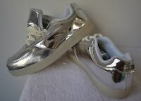 Silver Tennis Shoes, Light Up, Usb Powered, Size 10