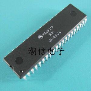 Motorola MC6802P 6802 8BIT MPU with Clock RAM  x 2PCS