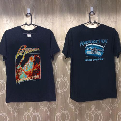 Vintage RARE Concert  PAT TRAVERS 81 heavy cotton t shirt gildan Reprint