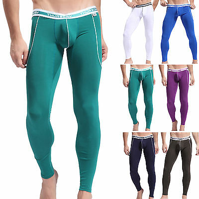 Sexy Men's Long PJ Comfort Warm Thermal underwear legging Pants new Design