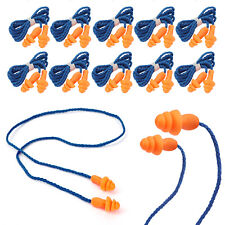 10pcs Pairs Silicone Corded Ear Plugs Reusable Hearing Protection Earplugs 29db