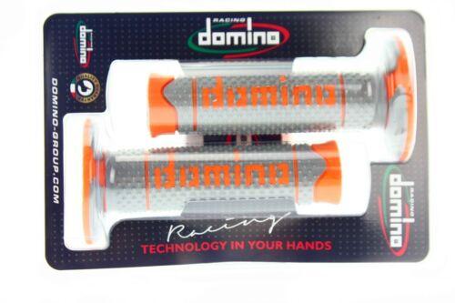 Grip GRIGIO DOMINO arancione MOTOCROSS ENDURO KTM EXC SX SXF MADE IN ITALY