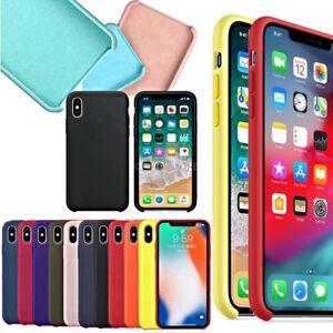 enorme sconto 50246 6fec6 Dettagli su COVER per Iphone X /XS /Max/ XR / 8 /7/ 6 Plus CUSTODIA Slim  Silicone Genuine