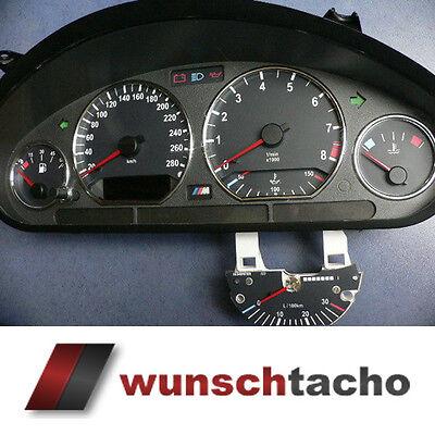 """Tachoscheibe für Tacho BMW E36 Benziner /""""Ring/"""" 260Km//h top"""