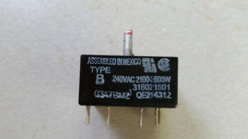 Frigidaire Range Surface Element Burner Switch 2100-2600  316436001 316021501