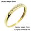 Bague-or-jaune-18k-9-diamants-demi-alliance-americaine miniature 5