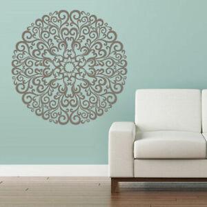 Wall-Decal-Vinyl-Sticker-Mandala-Menhdi-Flower-Om-Indian-Hindu-Buddha-Z2856
