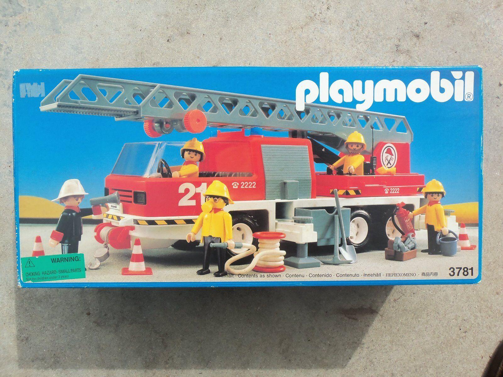 Playmobill Fire Engine #3781 Rare Collectors Item 1992 Unopened Original Box.