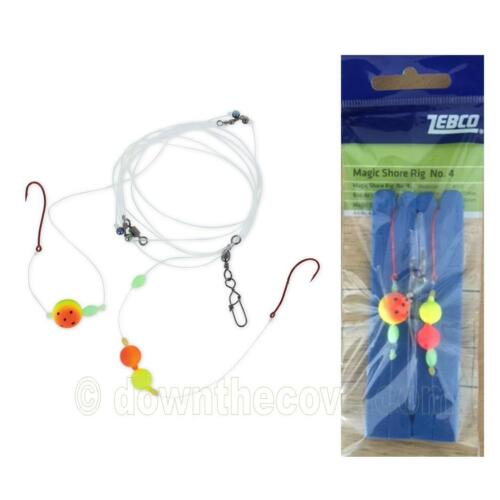 Boat or Surf Rig 1st Class Post Zebco Magic Shore Rig 4 Sea Fishing Tackle