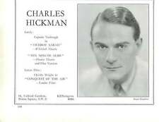 1936, Actors, Charles Hickman, Hubert Gregg
