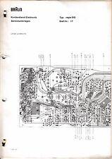 Service Manual-Anleitung für Braun Regie 510