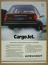 1986 Peugeot 505 Turbo Wagon color photo vintage print Ad