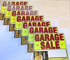Huge Lot Garage Sale Signs Amp Pre Priced Label Kits New Free Shipping