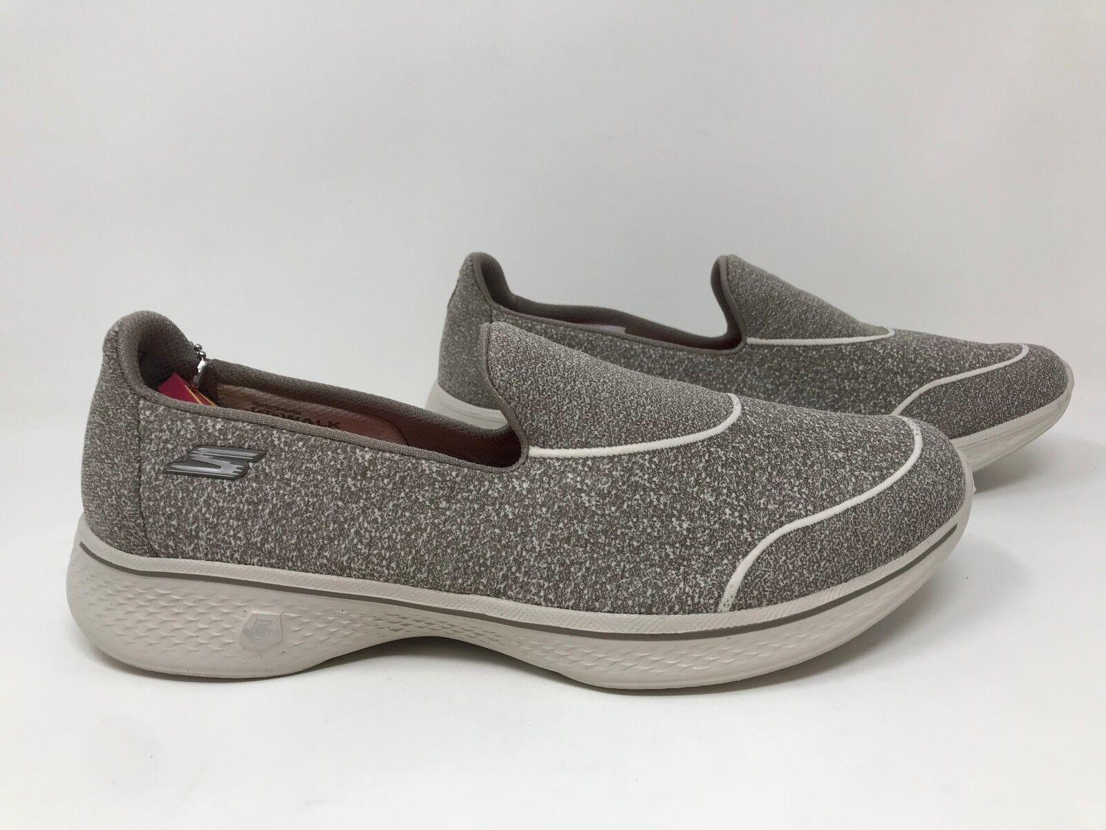 New  Women's Skechers 14161 GoWalk 4- Super Sock 4 Slip-Ons - Taupe S34