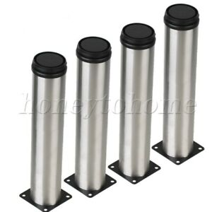4pcs-Cabinet-Sofa-Chairs-Furniture-Legs-Adjustable-Stainless-Steel-Table-Feet