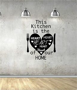 Image Is Loading This Kitchen Vinyl Wall Art QUOTE Sticker LOVE