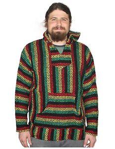 Mexican Baja Knit Pullover Hoodie Drug Rug Beach Wear 12