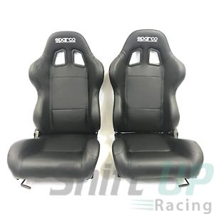 Details about Sparco Racing Street R100 Seats - Vinyl Black - 00961NRSKY -  PAIR