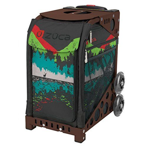 Zuca Into the Woods Sport Insert Bag & Brown Frame with Flashing Wheels