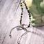 miniature 7 -  Bracelet Silver Leaf Natural Gemstone 4mm Bead Macrame Healing Reiki UKselle