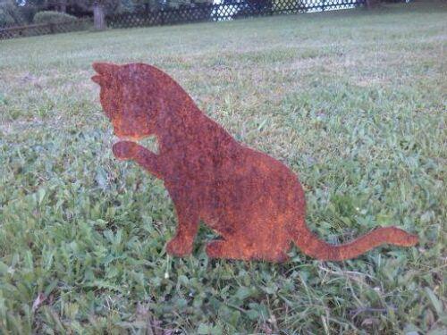 Edelrost  Gartenstecker katze Tier Katzen verschiedene Motive!!!