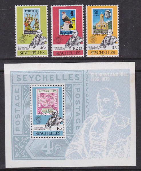 Mode 2019 Seychelles 1979 Comme Neuf Neuf Sans Charnière Set Complet Minisheet Spécimen Penny Post De Rowland Hill Confortable Et Facile à Porter