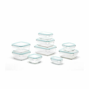 Glasslock Oven and Microwave Safe Glass Food Storage Containers 18 Piece Set