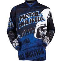 Metal Mulisha Maimed Blue Motocross Offroad Riding Jersey Adult Size Small S