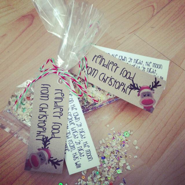 Personalised Magic Glitter Reindeer Food, Kids Gift, Countdown to Christmas Eve