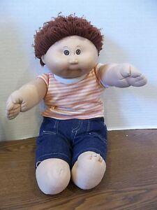 Vintage Cabbage Patch Kids Boy Doll 1978 1982 Short Brown Hair Brown