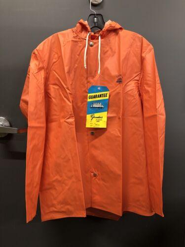 Neuf avec étiquettes Grundéns Men\'s Small Orange Veste Imperméable, Modèle: 82, article: Nordan