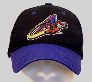 61984388 Vintage Akron Aeros Black/Purple MiLB Minor League Baseball Hat Cap ...