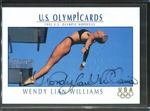 Wendy Lian Williams Impel US Olympic Cards Signed Autograph Stamp Authenticity