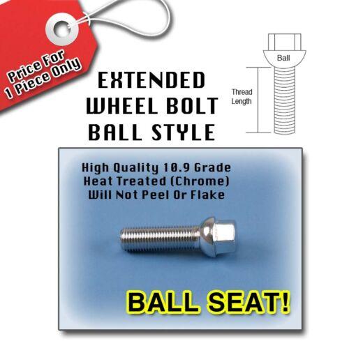 Silver Ball Longer Extended Wheel Bolts LugsAudi14x1.540MM Thread