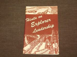 VINTAGE BSA BOY SCOUTS OF AMERICA 1949 HINTS ON EXPLORER LEADERSHIP BOOK