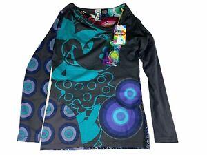 Desigual-DISNEY-Top-manica-lunga-Tee-Shirt-Taglia-L-Nuovo-con-etichette