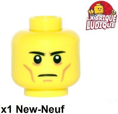 Lego 1x Minifig Male Head Male Cole Ninjago Smile Angry 3626cpb1893 New