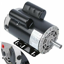230v Air Compressor 5 Hp Duty Electric Motor 56 Frame 3450 Rpm Single Phase 143t