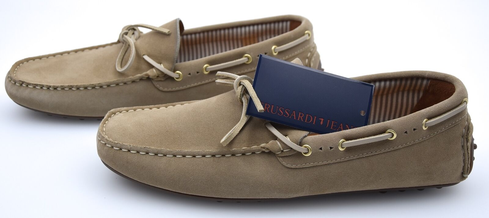 TRUSSARDI JEANS MAN LOAFERS SHOES CASUAL FREE TIME SUEDE CODE 77S019