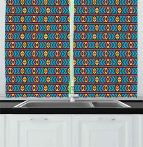 Details about Primary Colors Kitchen Curtains 2 Panel Set Window Drapes 55\