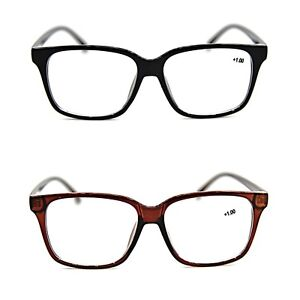 83e530cbcf Details about Bifocal Geek Nerd Unisex Stylish Reading Glasses in 2  Colours+1.5+2.0+2.5 DX2
