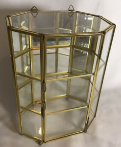 Mirrored-Glass-Display-Cabinet-Vitrine-Miniatures-amp-Curios-Wall-Hanging-H-23cm