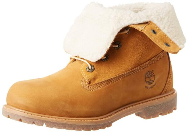 fe7403c828e Womens Timberland Teddy Fleece Waterproof Fold Down BOOTS Wheat 8329r 6