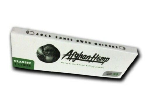 50ct Organic Hemp Rolling Papers 1 1//4 size Afghan Hemp RAW Elements