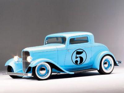 """17/"""" Race Car Truck Van Circle Number 1 Racing Graphic Door Vinyl Decal Sticker"""