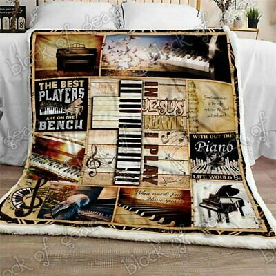 To My Son Hockey Sofa Fleece Blanket 50-80 Made In US