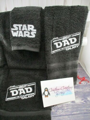 Star Wars Best Dad in the Galaxy Personalized 3 Piece Bath Towel Set