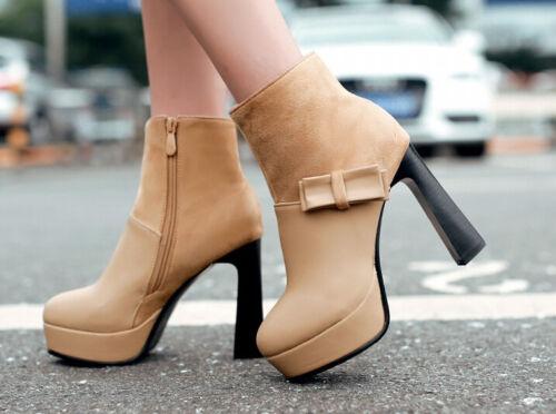 10 Cuir Chaussures Cm Talon Hiver Femmes Comme 8783 Pour Bottes 5 Noir HvaqvY