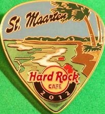 Hard Rock Cafe ST. MAARTEN 2012 POSTCARD Series Guitar Pick PIN New! POST CARD!