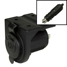 20A WATERPROOF Accessory Power Socket + 'L' Bracket + 'Twist Lock' Plug - 12V